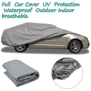 Newest Waterproof Dustproof Outer Membrane Full Car Cover UV Resistant Fabric Breathable Outdoor Rain Snow Ice Resistant S M L