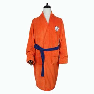 Dragon Ball cosplay clothes pajamas Sun bathrobe European code high quality bathrobe Clothes Pajamas Bathrobe Anime Costume