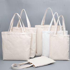 borse di alta qualità Utility Totes Donne Uomini Borse di tela riutilizzabile di cotone di generi alimentari ad alta capacità Shopping Bag 100pcs / lotto Trasporto libero