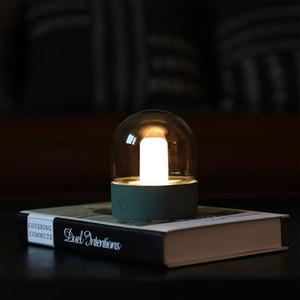 BRELONG luz nostálgico bulbo de lâmpada LED de carga da lâmpada Office Desktop retro lâmpada forma noite luz pequeno candeeiro de mesa USB