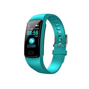 Pressão Y9 inteligente Atividade Rastreador relógio Banda de Fitness Pulseira Heart Rate Monitor Sangue pulseiras para Smartphone Smartbands