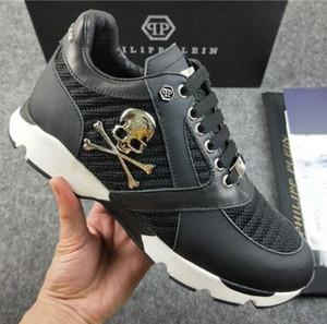 Los hombres de los zapatos casuales de alta calidad de los hombres del cráneo pp zapatos de cuero-001 010463 deportes de los hombres