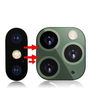 Second Generation Kamera-Objektiv-Schirm-Schutz für iPhone XS Max XS X Wechsel zum iPhone 11 Pro Max Metallabdeckung Aufkleber
