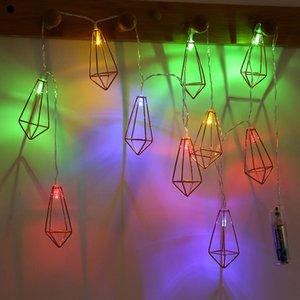 Led lampe string grenzüberschreitend spezialisiert für schmiedeeisen wird aushöhlen diamanten farbige lichter weihnachtsdekoration zimmer hochzeit