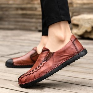 2020 New Style Autumn Loafers Mens Fashion Breathable Hot Casual Shoes Formal Business Leather All-match Leather Shoes Men