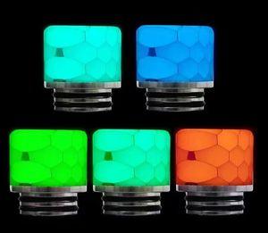 Lumaca Cobra Luminous 8x Snake Skin Grid Wave Honeycomb Resina epossidica Boro largo Bocchino per TFV8 TFV12 Prince