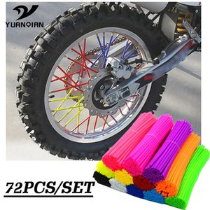 72 pz universale Moto Dirt Bike Off Road Enduro cerchione Spoke copre le pelli per Klx250s Versys 650 1000 KLR650 KL650