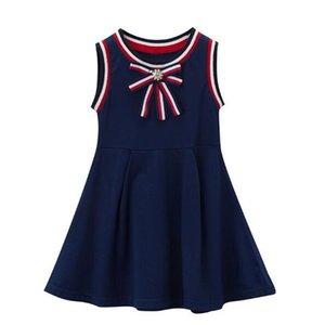 2020 Summer New Children's Clothing Girl Dress High Quality Cotton Children Skirt Sleeveless Vest Skirt Fashion Rhinestone Children Dresses
