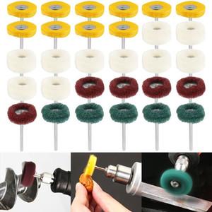 30pcs in feltro di lana Grinding Testa di levigatura abrasivo di lucidatura della rotella T Style polacco lucidatura mola capo per Dremel Drill