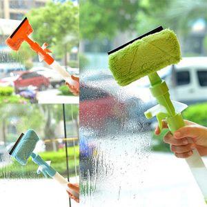 نوافذ من البلاستيك منظفات الزجاج برتقالي أخضر متعدد الوظائف نظافة المياه القابلة للرذاذ فرشاة تنظيف من جانبين Creative 7 15cm L1