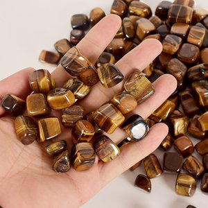 Тигровый глаз Упал камень Нерегулярные Полированный Натуральная минеральная Рок Кварц Палм бисера чип для Chakra Healing Decor