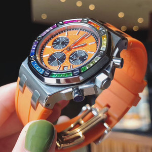 elmas yüzük kraliyet izle kol saatleri Etraftaki kauçuklar Dimonds saatler bayan tapis Antiglare Safir 38mm kadran kuvars Relojes womens