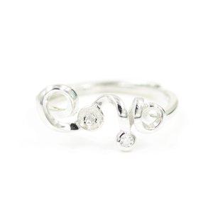 moda al por mayor de los montajes de anillo de plata de ley S925 diseño precioso para el envío libre de la joyería de las mujeres de perlas bricolaje