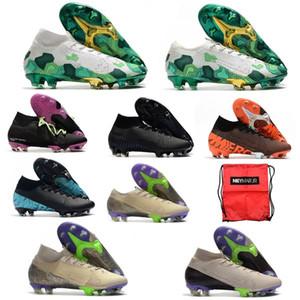 2020 Mercurial Superfly VI Chaussures de soccer 360 Elite FG XII 12 SE Ronaldo CR7 Neymar Hommes Superfly 7 Elite SE Chaussures de football Crampons