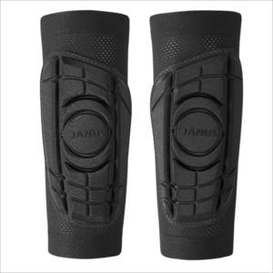 Un par anticolisión entrenamiento del fútbol Espinillera pantorrilla Baloncesto soporte de compresión de esponja Calcetines ciclo de la pierna mangas