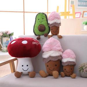 2019 Yeni Yaratıcı Dondurma Avokado Peluş Oyuncak Çocuk Özel Mantar Doll Doldurulmuş Hayvanlar Karikatür Yaratıcı Meyve Bebekler