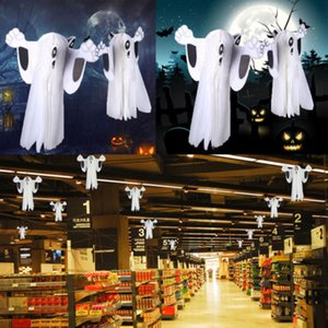 Fashion 1Pcs Halloween Ghost Pendant Party Decals Halloween Ghost Hanging Decor Indoor Outdoor Halloween Party Decoration