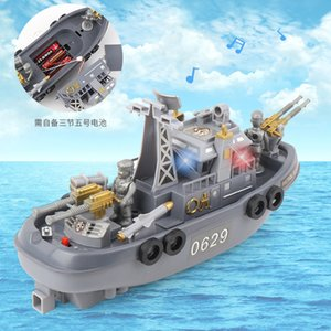 Group Hot Sales Electric Patrol Boat Light-in Water Traveling Stall Hot Selling Model Bath Toy