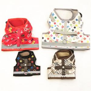 Impreso para mascotas patrón clásico chaleco de moda transpirable chaquetas para mascotas 3 estilos de personalidad del encanto del Schnauzer Arneses Correas
