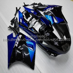 보울 스 + 선물 블루 블랙 오토바이 카울 Kawasaki ZX11R ZZR1100 용 1993 1994 1995 1996 1997 1998 1999 2000 2001 ABS 페어링