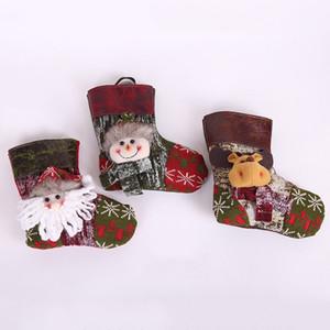 Weihnachtsstrümpfe Weihnachtsmann-Socken-Geschenk-Kinder Candy Bag Weihnachten Christbaumschmuck hängende Ornamente Gift Holders