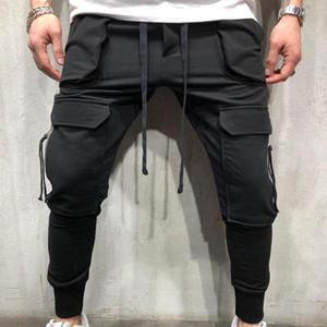 dos homens calças cargo calça casual mens straight-perna da calça multi bolso Total Homens Ao Ar Livre Calças Plus Size