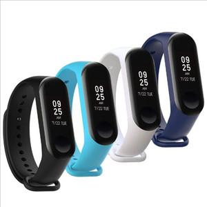 bienes de reemplazo de la correa de silicona caliente para Xiaomi Mi Banda 4 Inteligente venda de los accesorios inteligentes pulsera de la correa del punto de Mi Banda 4/3 Correa