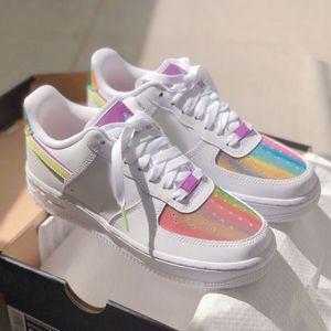 Erkekler için Ayakkabı Koşu Casual des CHAUSSURES Womens bir Gökkuşağı Spor Spor ayakkabılar 2020 Yeni Düşük 1 Paskalya Kaykay Ayakkabı Dunk