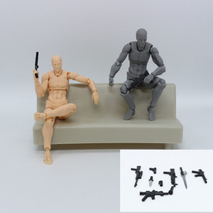 Anime figma Movable Chan corpo Ação PVC figura modelo Brinquedos Doll para Collectible 14 centímetros Mannequin Esboço Art Desenhe bonecas do corpo humano LY191210