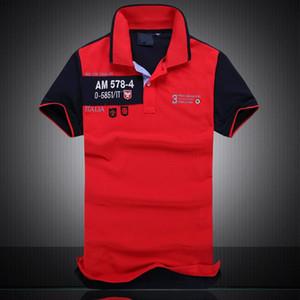 Marca Londra Mens T Shirt Designer di alta qualità poloshirt uomini manica corta T casuale uomini di lusso striscia Italia progettista