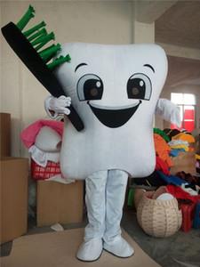 이빨 이빨 마스코트 의상 성인 크기 의상 파티 만화 Appearl 할로윈 탄생일
