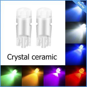 1 Adet kristal seramik T10 Led Ampul Araç Nezaket Kubbe Harita Kapı Plaka Işık Park ışıkları için 194 W5W LED Ampüller