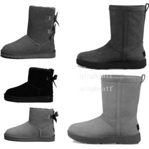 TOP Tasarımcı Bayan Kış Kar Bow Kız MİNİ Bailey Boot 2019SIZE 35-412748 # ile Boots Moda Avustralya Klasik SportsshoesuGG Patik