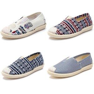 2020 no marca zapatos de las mujeres Zapatos Alpargatas deslizamiento en los planos de los zapatos de lona holgazanes ocasionales las zapatillas de deporte 35-40 Multiclticolors Style 31282 #