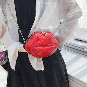 de sexy Lips Estilo Moda Pu Ladies Day Clutch Bag Cadeia Bolsa Bolsa de Ombro Handbag Mulheres Crossbody Mini Mensageiro