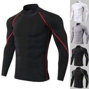Nouveau manches longues Chemise sport Hommes Quick Dry Courir Tshts Serpent Homme Gym Vêtements Fitness Top Mens Rashard Soccer Jersey