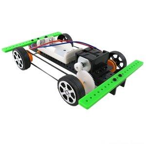 OCDAY Autoassemblage DIY mini-batterie Powered Model Car Kit enfants Jouets pour enfants jouets éducatifs Giftest Nouveautés