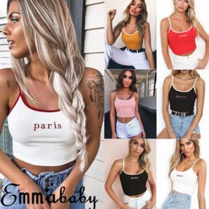 Emmababy Frauen-beiläufige Trägershirt-Weste Sexy Ärmel Crop Top-Hemd