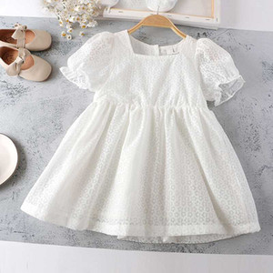 Mihkalev Pretty Baby Girl 2020 Summer White Dress For Party Clothes Kids Shoulderless Tutu Dress Children Clothing robe fille