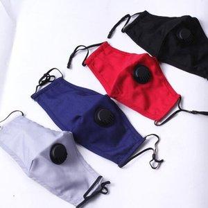 Cotton Valve Mask Reusable Unisex Cotton Face Masks With Breath Valve PM2.5 Mouth Mask Anti-Dust Protective Masks Cover GGA3430