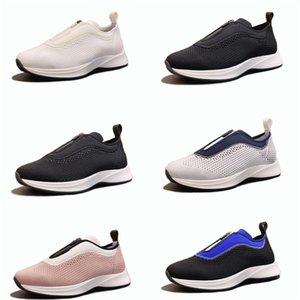 Marca de moda de los hombres B25 baja top deportivo Negro Malla bule neopreno Slip-en-Zip hasta formadores técnicos Zapatos de la zapatilla de deporte diseñador con la caja
