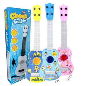 Mini ukulele a mano suonare la chitarra strumento di illuminazione per bambini mini giocattolo per bambini di educazione precoce per bambini Giocattoli per bambini