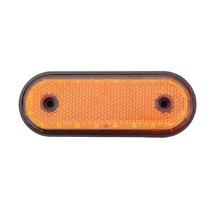 Kamyon Römork Kamyon RV Pikap Kırmızı Sarı White için 1 adet 20LED Side Marker Işık 24V Araba Arka Gümrükleme Lambası