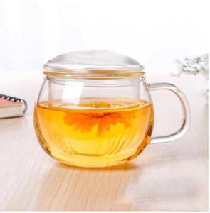 Cam çiçek demlik şeffaf çift duvar fincan ısıya dayanıklı çay enjektör filtresi çay seti en kaliteli 200ml-300ml