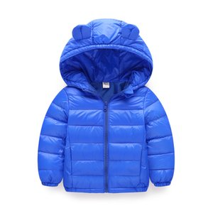 CHILDREN'S Cotton Wear 2018 Winter New Style Small Ears Light-BOY'S Girls Baby Cotton-padded Clothes Children Cotton Coat