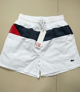 2019 Trend Shorts Мужские пляжные шорты Лето до колен Совет Фирменный дизайнер Шорты Эластичные талии дышащие полосатые шорты