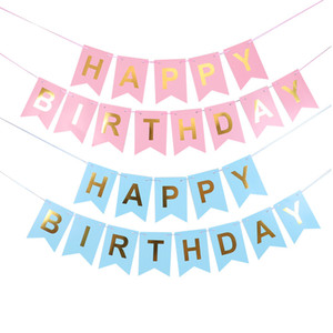 Happy Birthday Banner Baby Shower Birthday Party Decorations Photo Booth Happy Birthday Bunting Garland Flags