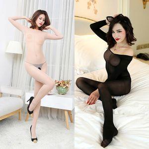 Mode für Frauen Strumpfhosen Sexy Langarm-Strumpfhose-dünner Unterwäsche-geöffnete Gabelung Unterwäsche-Spitze Körperstrümpfe