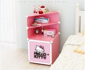 Bedside storage box Plastic finishing cabinet A Simple Combinatorial Finishing and Receiving Bedside Cabinet children room storage box