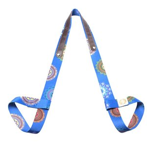 Printed Shoulder Adjustable Multifunctional Stretch Belt Fitness Sports Exercise Sling Carry Gym Waist Leg Yoga Mat Strap